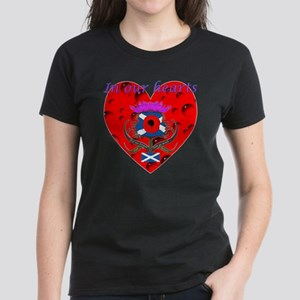 In our hearts military heros Women's Dark T-Shirt